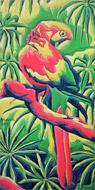 Parrot Jungle dans (oilpainting)