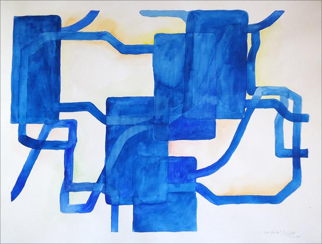 Facebook like - dislike - aquarelle par martin missfeldt