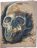 Étude avec oilcolor: crâne