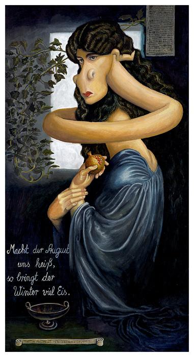 Proserpine après Dante Gabriel Rossetti
