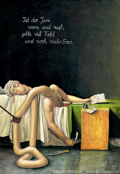 Mort de Marat - après Jacques-Louis David