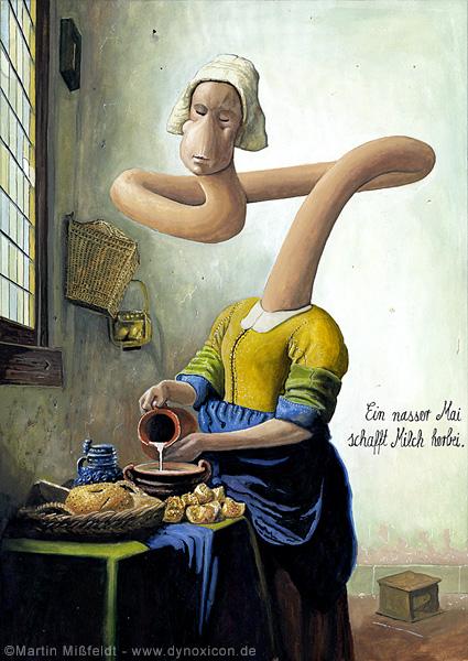 Ménage lait après Johannes Vermeer