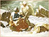 Matthew prend l'Evangile par un ange (d'après Poussin)