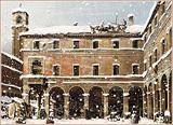 Venise en hiver avec de la neige (après Canaletto)
