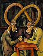 Cardplayer après Paul Cézanne