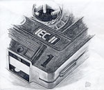 Dessin au crayon: une cassette