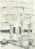 Cheminée rustique avec cheminée