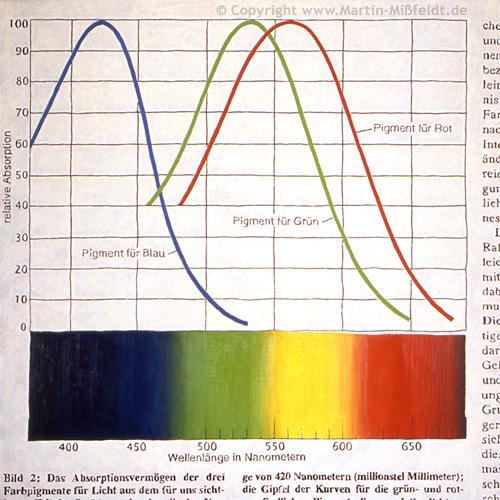Courbes avec la couleur du spectre