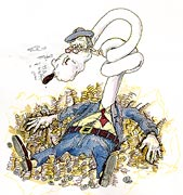 Capitaliste avec cigare (bande dessinée)