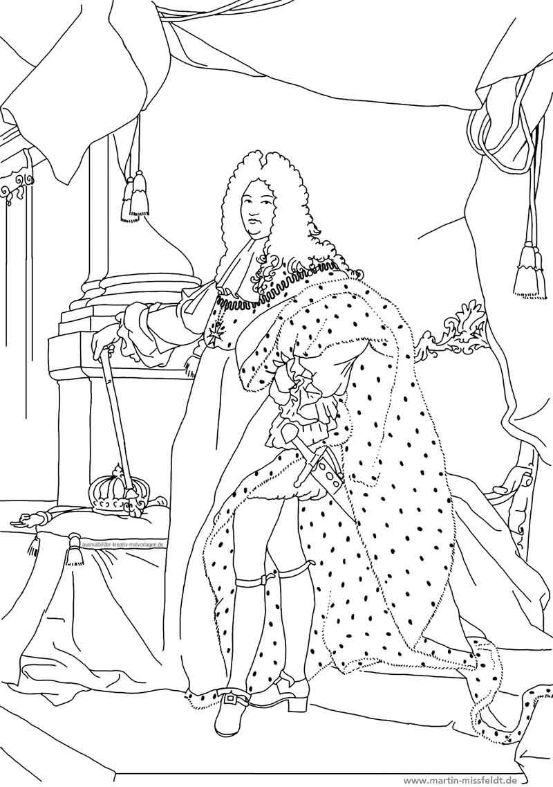Zacharias En Elisabeth Kleurplaat Art Coloriage Louis 14e Dessin Num 233 Rique