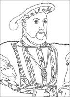 Coloriage Modèle roi Henry 8ème