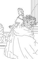 Modèle Coloriage d'une princesse