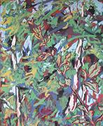 peinture: bouleau et feuilles