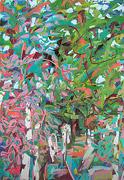 peinture sauvage: branches et les feuilles