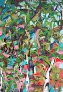 peinture sauvage: la couleur des feuilles