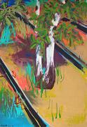 peinture sauvage: arbre et ferroviaire