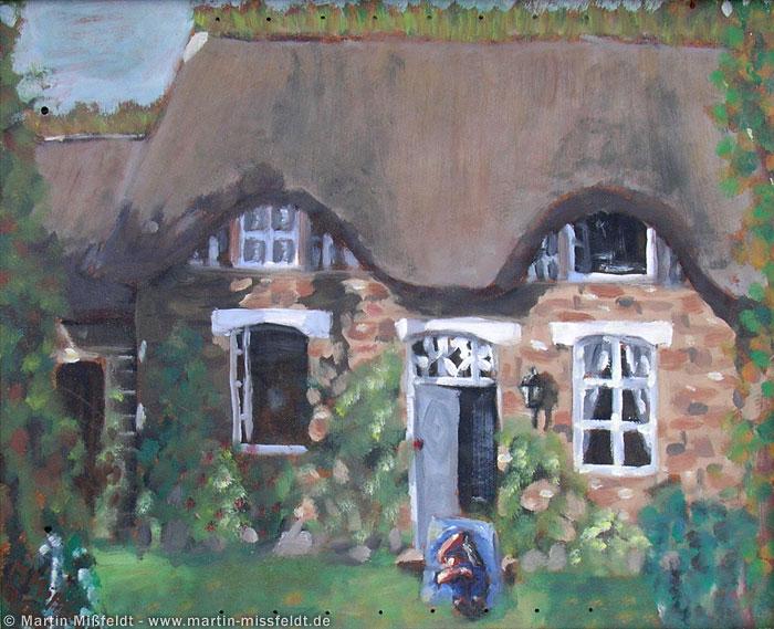 Peinture à l'huile dans la maison de Normandie
