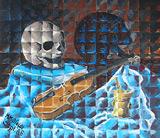 Vanitas Still Life with Skull
