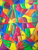 Cubisme peinture: Violon