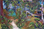 Peinture dans une forêt