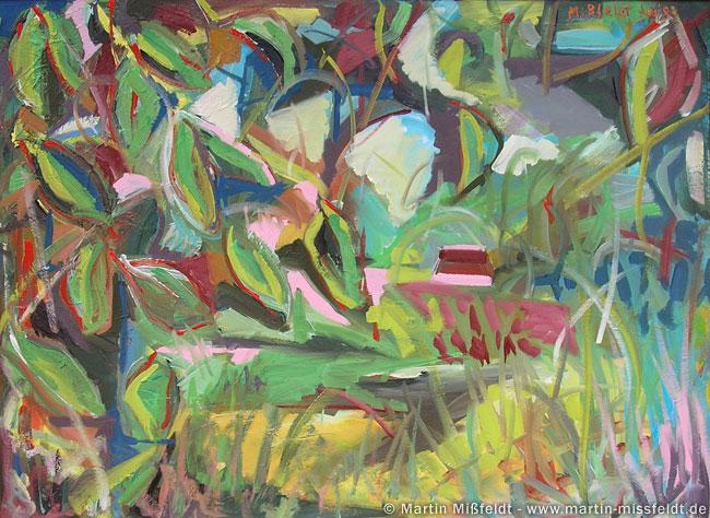 Peinture à l'huile forêt