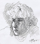Encre dessin portrait (Marion)
