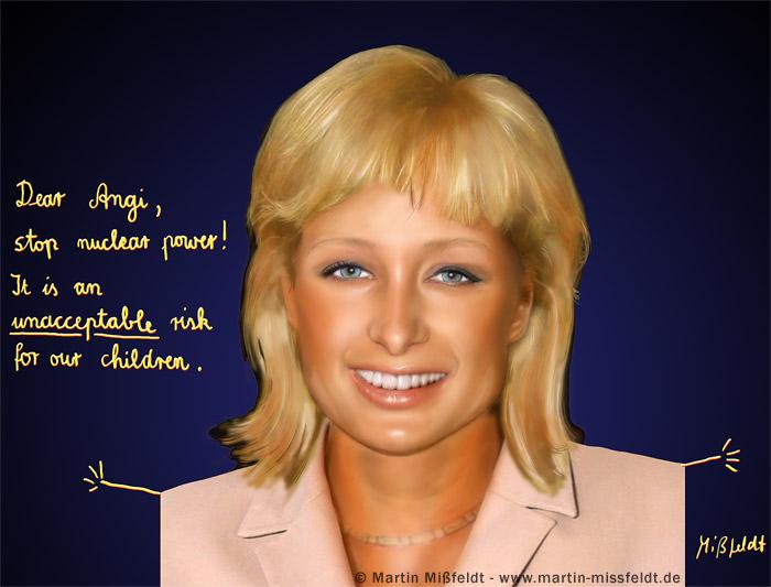 Paris Hilton - Angela Merkel - coiffure fraîche