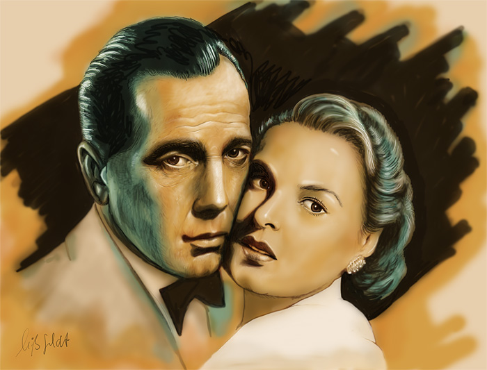 Ingrid Bergmann, Humphrey Bogart - Casablanca