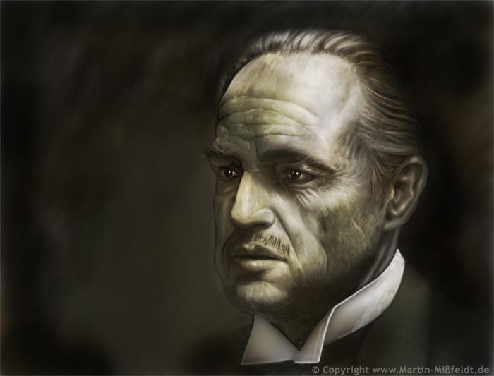 Marlon Brando dans Le Parrain comme Don Vito Corleone