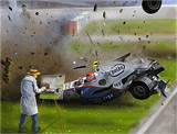 Peinture F1 Crash - speedpainting art