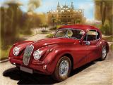 Jaguar XK 140 et Monaco Casino - vidéo speedart