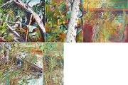 Allemand Automne 1989 - Peinture à l'huile